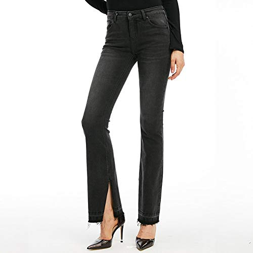 Femme Jeans Hosen Split schmale Jeans Taille Neue Jeans MVGUIHZPO Trend XL hohe Fashion und 5nq0BxAH