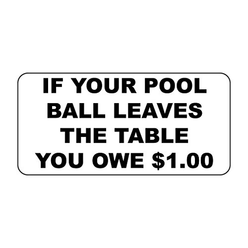 (Fastasticdeals If Your Pool Ball Leaves The Table You Owe $1.00 Custom Metal Sign - 8 X 12 in)