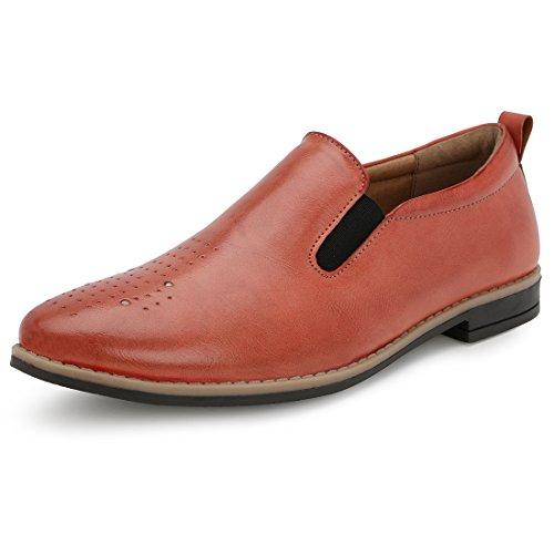 Escaro Men's Casual Shoes(ES2084GN_ CHERRY_8)