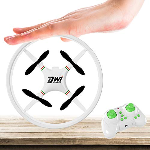 Dwi Dowellin Mini Drone for Kids Beginners Indoor RC Quadcopter 2.4Ghz 4CH 6-Axis Nano Drones RTF Helicopter D1 White from Dwi Dowellin