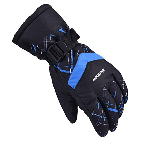 Windproof Ski Gloves, Dometool Waterproof Winter Keep Warm Breathable Outdoor Skiing Glove Snowboarding Glove Riding Motorcycle Gloves, Size:XL