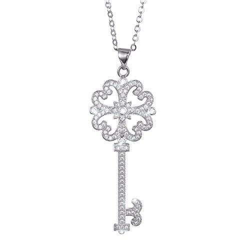 menton-ezil-key-to-heart-18k-white-gold-plated-cz-diamond-pendant-necklace-for-women-valentines-gift