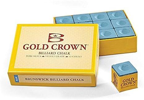 Tiza billar blue brunswick chalk 12pcs: Amazon.es: Deportes y aire ...