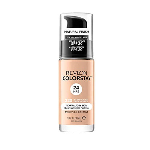 Revlon ColorStay Base de Maquillaje con SPF 20, Normal/Seco, Natural Beige, 30 ml