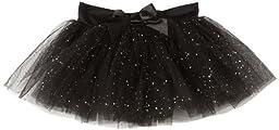Capezio Big Girls\' Tutu Skirt W/ Glitter Tulle,Black,L (12-14)
