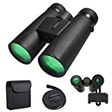 Binoculars for Adults, 12X42 Low Night Vision Binoculars Professional HD Compact Durable Folding Waterproof & Fogproof Roof Prism Binocular Scope for Bird Watching Travel Stargazing Hunting Concerts For Sale
