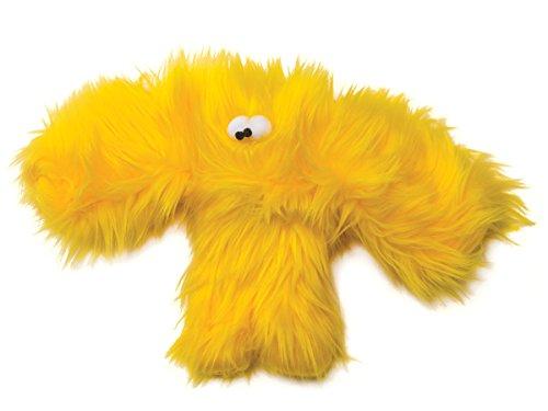 Furry Plush Dog Toy Salsa Lemon Yellow