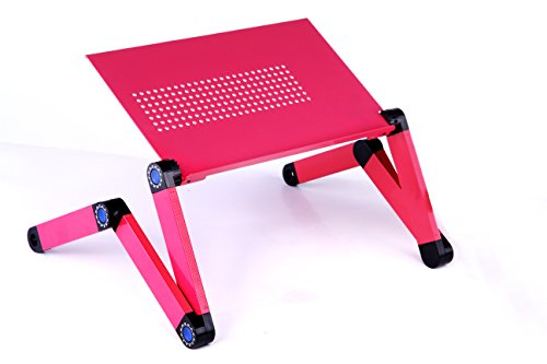 BABY FROG DESK (PINK) - Affordable standing desk, Folding camping desk, Portable table, Breakfast tray, Adjustable reading stand, Cookbook stand, Ergonomic desk, Boost productivity