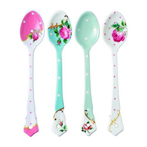 Royal Albert Set of 4 Mixed Ceramic Spoons (Royal Albert Gifts)