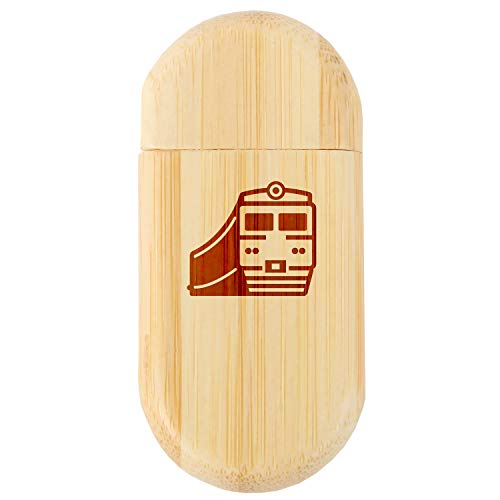 (Train 8Gb Bamboo USB Flash Drive with Rounded Corners - Wood Flash Drive with Laser Engraving - 8Gb USB Gift for All Occasions )
