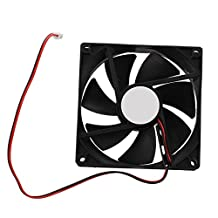 SODIAL(R) 90mm x 25mm DC 12V 2Pin Cooling Fan for Computer Case CPU Cooler