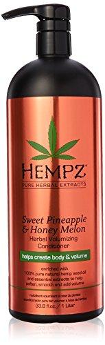 Hempz Sweet Pineapple and Honey Melon Herbal Volumizing Conditioner for Color-Treated Hair, 33.8 oz. - Restorative, Moisturizing