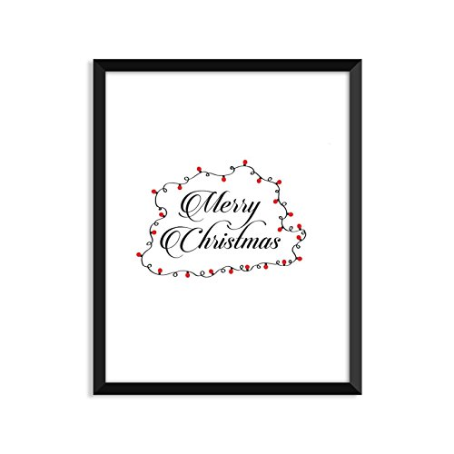 Merry Christmas Lights - Unframed art print poster or greeting card