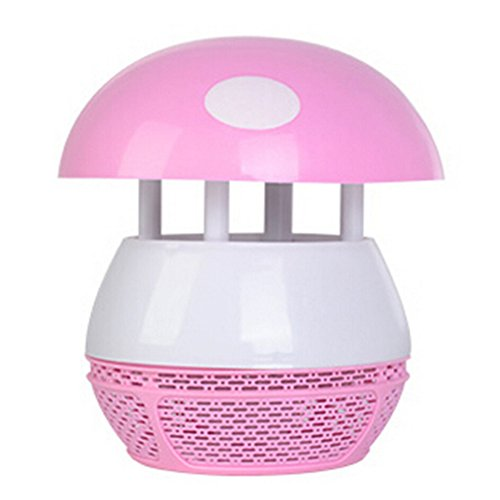 USB Electronic Insect Killer Repellent Trap Indoor Rechargeable Mosquito Bug Zapper HouseholdNoRadiationInhalationMute MushroomShaped Lamp for Outdoor Home Office Backyard Garden Patio