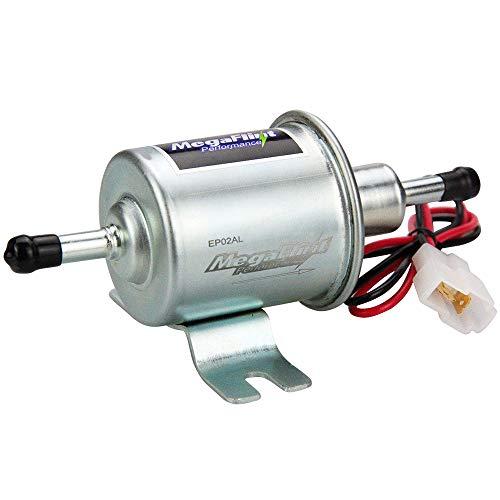 (Universal Electric Inline Fuel Pump 12V Low Pressure Gas Diesel Kit 2.5-4 PSI HEP-02A)