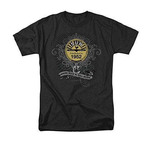 Rockin Scrolls -- Sun Records Adult T-Shirt, X-Large