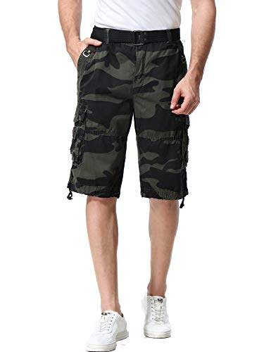 - Resfeber Mens Cargo Shorts Casual Classic Fit Short New Belted Wyoming Cargo Short