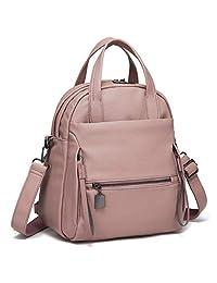 Kasqo Women Backpack Purse, 3 Ways Convertible PU Leather Rucksack Fashion Ladies Backpack Casual Shoulder Bag