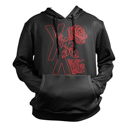Nydia Hoodie,MGK T XX Shirt Flower Rose,Black,Men Women Boy Girl Kid Youth,Unisex Hoodie