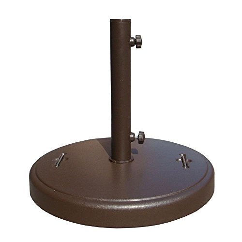 86 lbs. Brown Patio Umbrella Base with Hidden Wheels (Base 75 Umbrella Lb Patio)