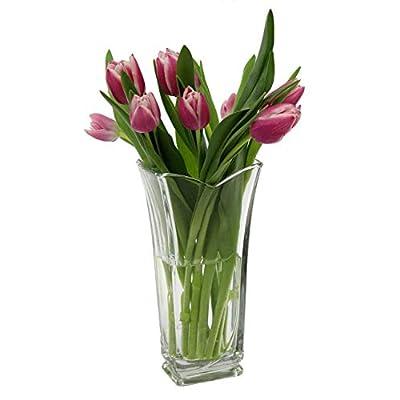 Rocco Bormioli Vinciana, vetro italiano, vaso di fiori in vetro
