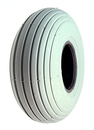 Monster Motion 10''x3'' (3.00-4, 260X85) Pneumatic Mobility Tire with Spirit Ribbed Tread