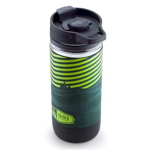 GSI Outdoors Commuter Javapress Coffee Mug, Red, 15 fl. oz.