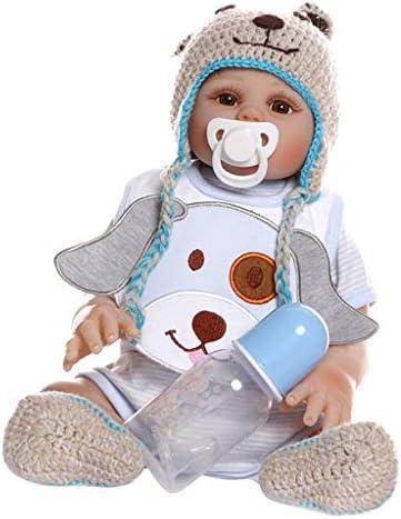 Tachiuwa 新生児 リボーンドール 高さ48cm 人形モデル 赤ちゃんドール シミュレーションビニール 出産祝い 青