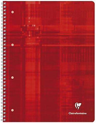 Clairefontaine 8252C Collegeblock (Kariert Lineatur 22, DIN A4, 21 x 29,7 cm, 80 Blatt) 1 Stück zufällige farbe