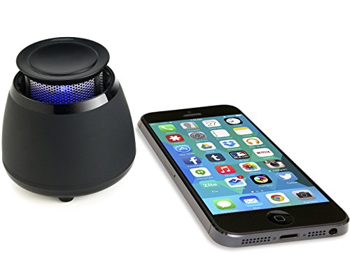 Wireless Bluetooth Speaker- BLKBOX POP360 Hands Free Bluetooth Speaker – for iPhones, iPads, Androids, Samsung and all Phones, Tablets, Computers (Bumpin' Black)