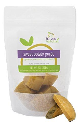 Harvest to Highchair Fresh to Frozen Vegan, Non GMO, Gluten Free Baby Food Puree 7 ounces - Sweet Potato (6 pack)