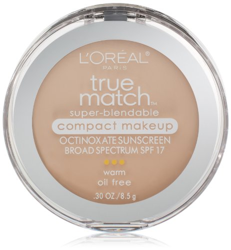 L'Oréal Paris True Match Super-Blendable Compact Makeup, W1 Porcelain, 0.3 oz.