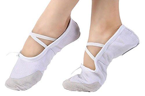 Scarpette Da Danza Su Tela Staychicfashion Scarpe Da Ginnastica Piatte Da Ginnastica Per Donne Bianche