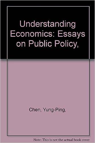 Understanding Economics Essays On Public Policy  Yungping Arndt  Understanding Economics Essays On Public Policy  Yungping Arndt Sven  W Chen Amazoncom Books