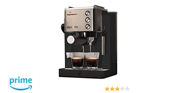 Amazon.com: Espressione CE 4492 Squissita Intelligent Espresso Machine,  1.22 L, Stainless Steel: Kitchen U0026 Dining