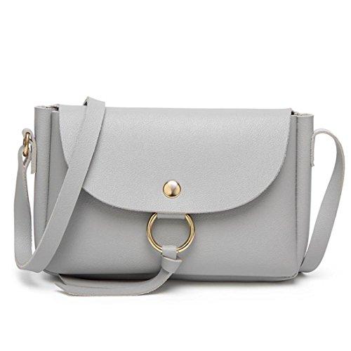 Bags by Body Casual Women Cross Teen Girls TOPUNDER Handbags Mini Fashionable Leather for Gray Shoulder X Bag EIHFxq