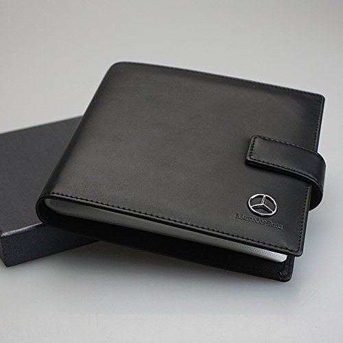 Mercedes Benz PU Leather CD Case 20 Capacity Car DVD Holder Disc Disk Storage Carry by Leather Wallets