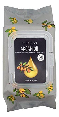 - Celavi Deep Cleansing Oil Makeup Removing Towelettes 1 Pack - 30 Sheets (Argan Oil)