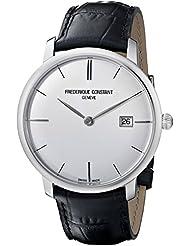 Frederique Constant Mens FC306S4S6 Slim Line Slim Line Mens Silver Dial Automatic Watch