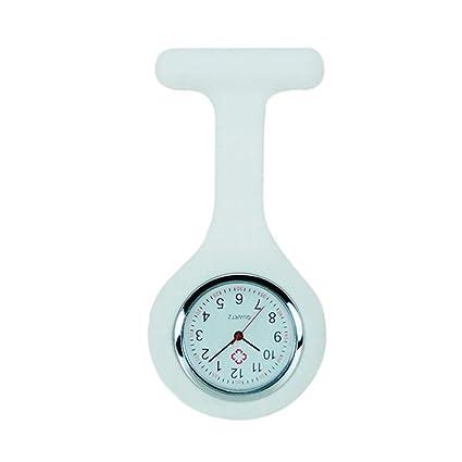 Joyfeel Buy - Reloj de bolsillo para enfermera, de silicona, con broche y cierre