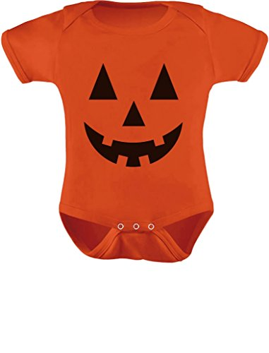 TeeStars - Cute Little Pumpkin - Halloween Infant Jack O' Lantern Baby Bodysuit Newborn Orange]()