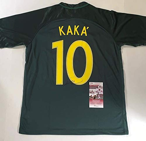 Kaka Autographed Signed Memorabilia Brazil Soccer Jersey for sale  Delivered anywhere in USA