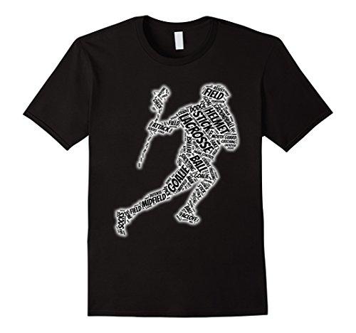 Mens  Goalie glove stick ball t-shirt Small Black