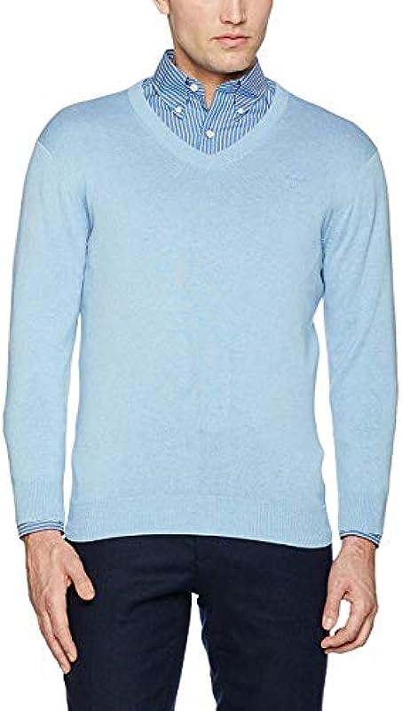 GANT Lt. Weight Cotton sweter z dekoltem w serek: Odzież