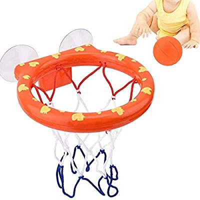 HBBOOI Bathtub Basketball, Bath Basketball Rack Toy Hoop & Balls Shooting Game for Children Baby Toddler (Size : A): Home & Kitchen