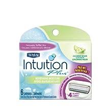 Schick Intuition+ Refresh Moist Cucumber Melon Cartridge (Pack of 6)