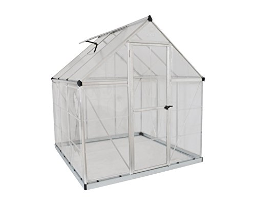 Palram HG5506 Hybrid Greenhouse, 6' x 6' x 7', Silver