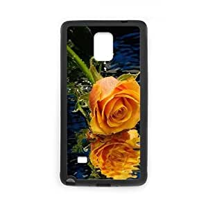 DIY noble rose Case, DIY Case for samsung galaxy note 4 with noble rose (Pattern-2)