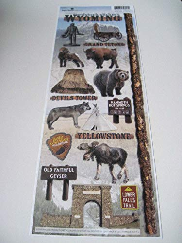 Sticker Scrapbooking Paper House Wyoming Yellowstone Devil's Tower Faithful 13