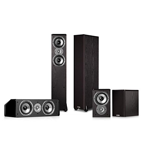 Polk Audio TSi300 5.0 Home Theater Speaker Package (Black) by Polk Audio